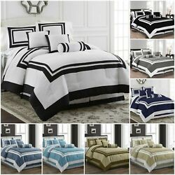 Kyпить Chezmoi Collection 7-Piece Hotel style Comforter Set Full, Queen, King, Cal King на еВаy.соm