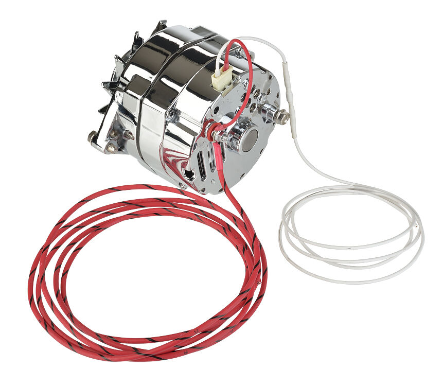 12 Volt Chrome Alternator Gm 10si 100 Amps 1 Or 3 Wire Connection