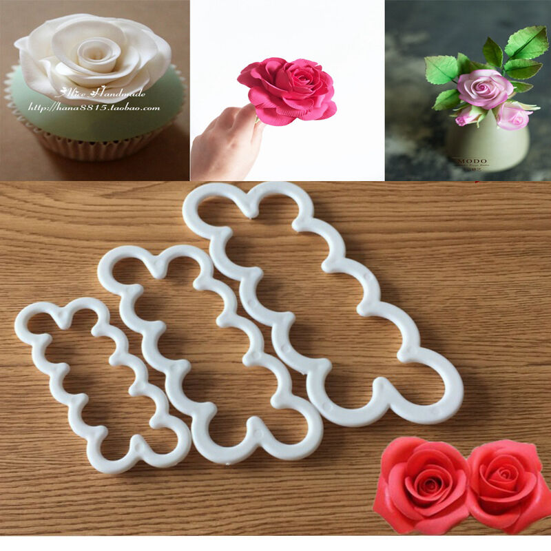 Silicone 3d rose flower fondant cake chocolate sugarcraft for Advanced molding decoration