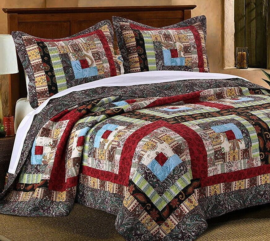 COLORADO LODGE * King * QUILT SET : RUSTIC CABIN MOUNTAIN ...
