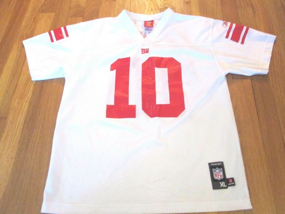 f1ce7319615 LIGHTLY WORN REEBOK NFL NEW YORK GIANTS ELI MANNING JERSEY YOUTH SIZE XL