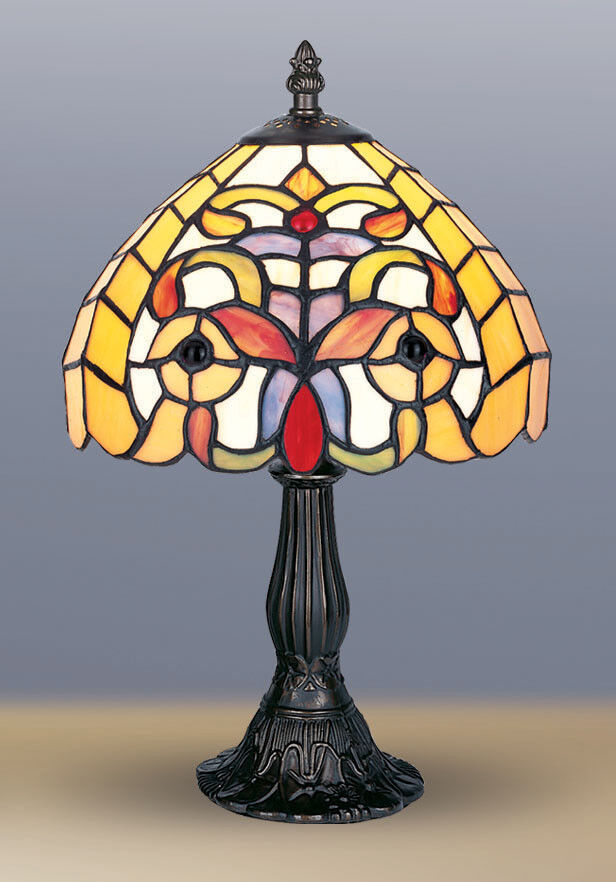 tiffany style unique stained glass desk table lamp light. Black Bedroom Furniture Sets. Home Design Ideas