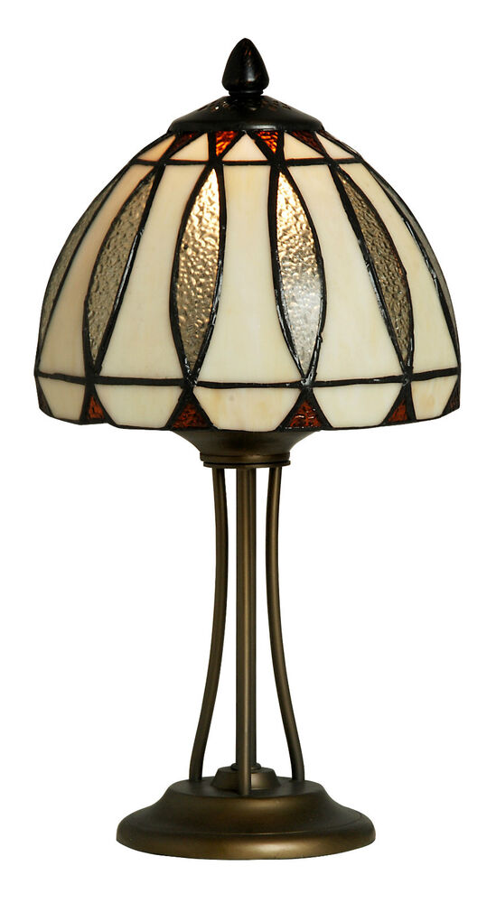 TIFFANY STYLE UNIQUE STAINED GLASS DESK TABLE LAMP - 7.87
