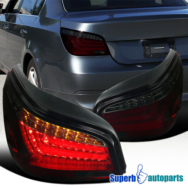 2004 2007 bmw e60 5 series led chrome housing red smoke. Black Bedroom Furniture Sets. Home Design Ideas