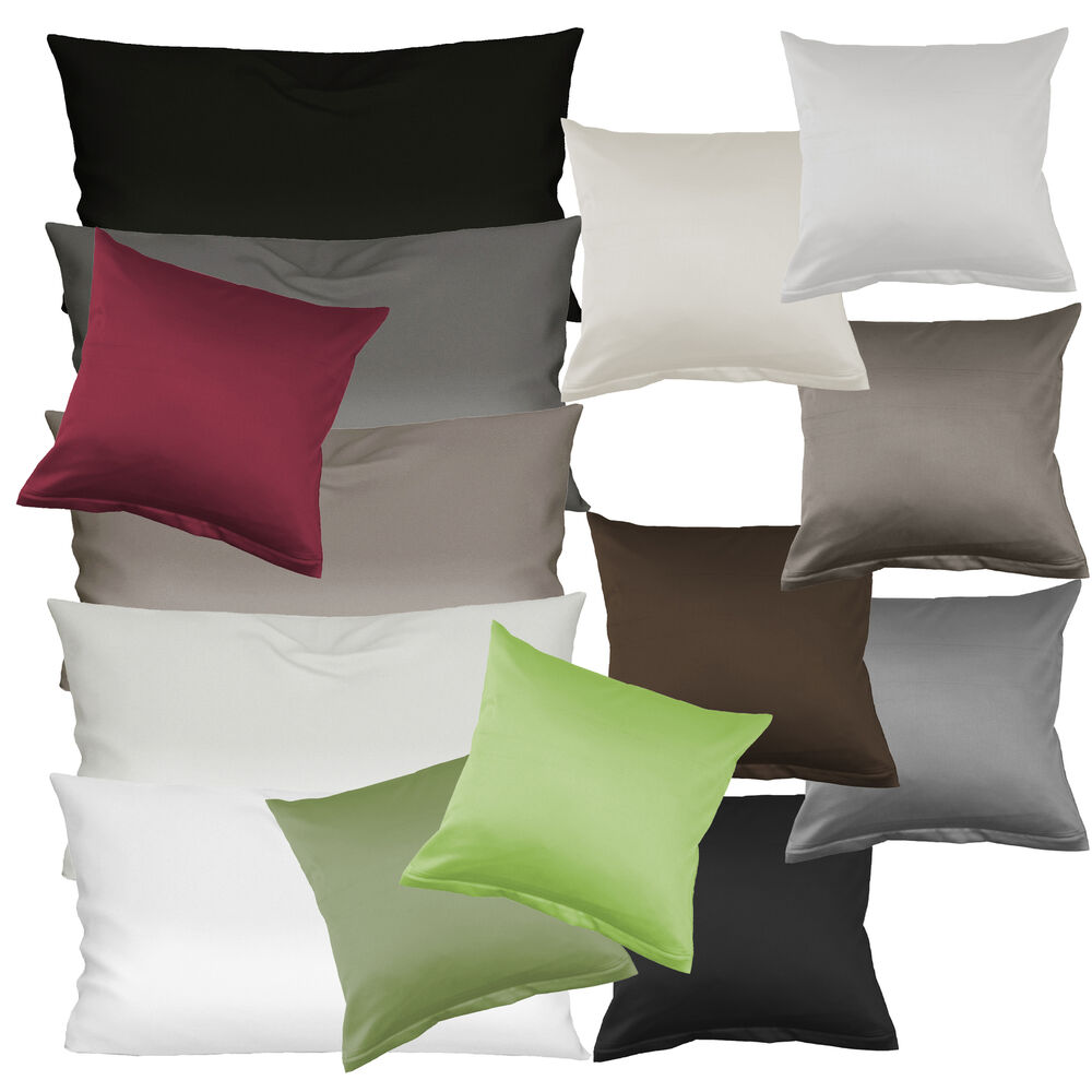 primera luxus satin kissenbez ge 40x40 40x80 80x80 cm in 9 farben ebay. Black Bedroom Furniture Sets. Home Design Ideas