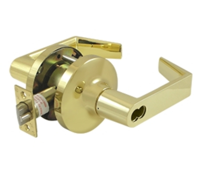 Storeroom door lock set grade 1 commercial lever in 2 for 1 2 lock the door