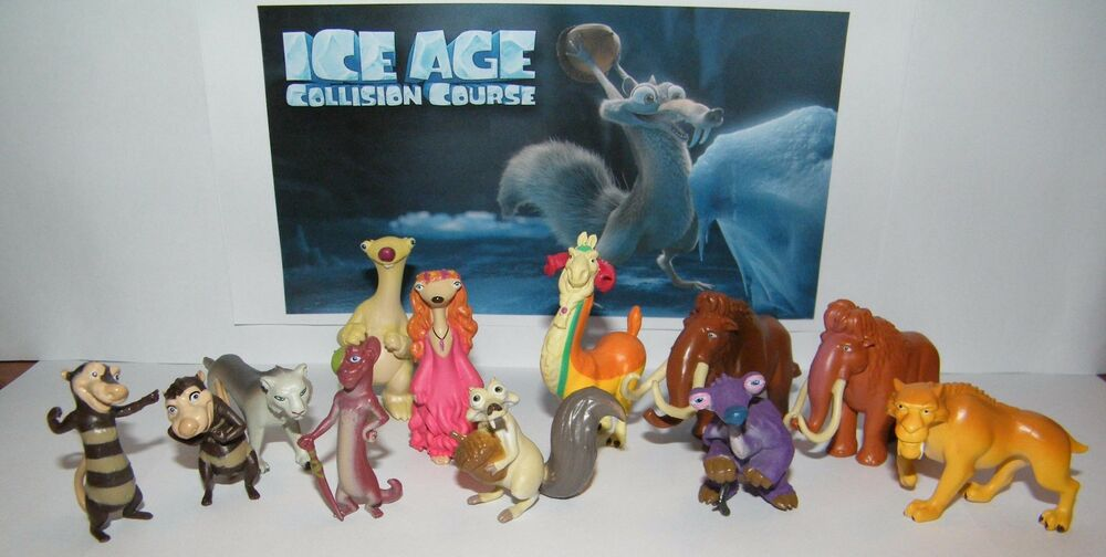 Toys From Ice Age 1 : Ice age collision course movie party favors fun figures