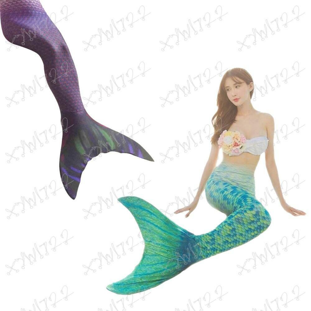 New Kids Girls Swimmable Mermaid Tails With Monofin