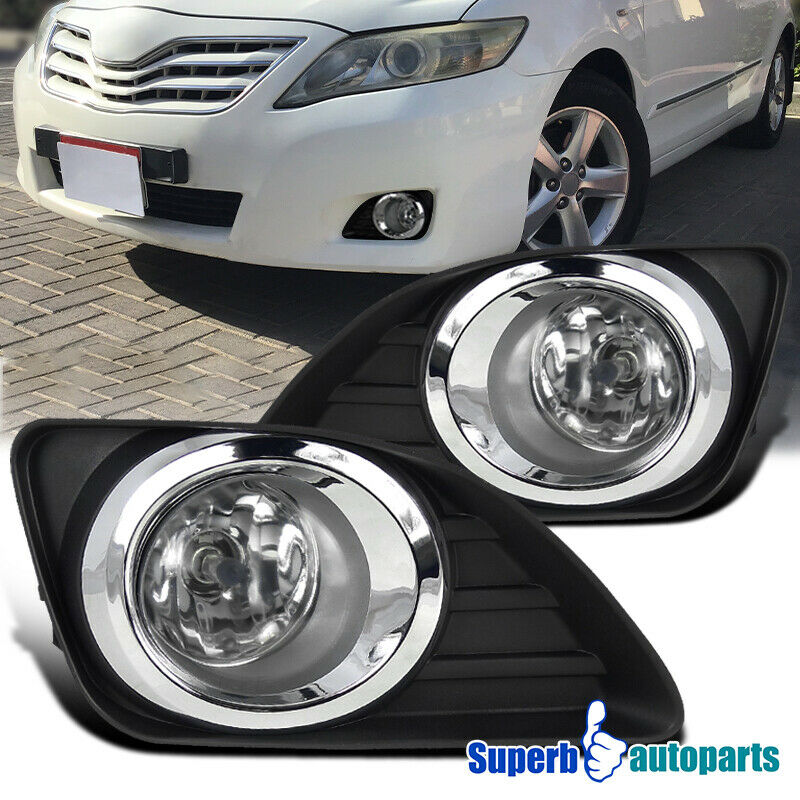 2010 2011 toyota camry front bumper fog lights lamps. Black Bedroom Furniture Sets. Home Design Ideas