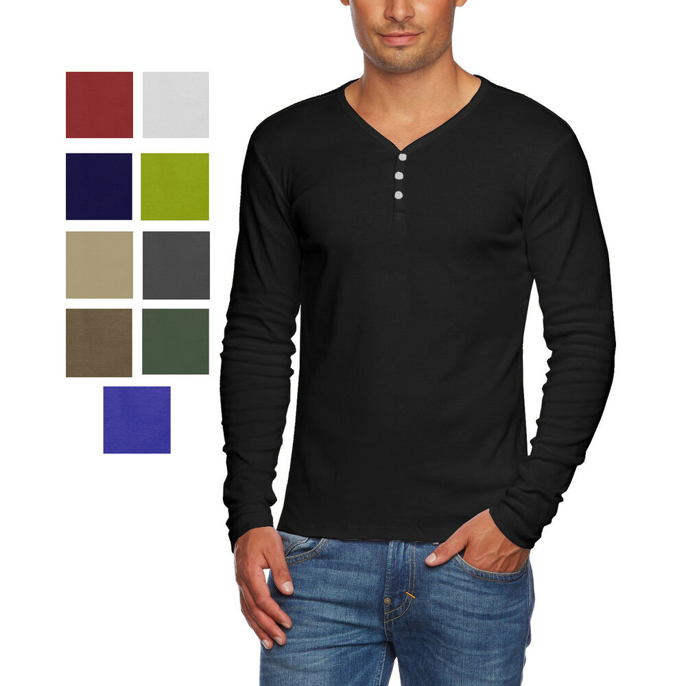 Alta men 39 s slim fit v neck long sleeve cotton t shirt with Fitness shirts for men