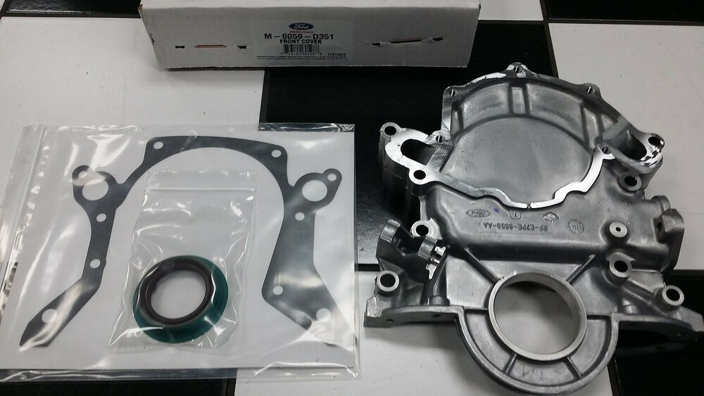 Ford Timing Chain Cover : Ford racing w front timing chain cover m