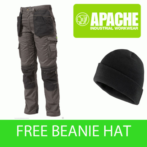 Apache Knee Pad Holster Work Trouser APKHT- GREY - Hat Included