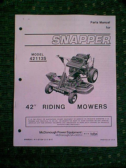 snapper rear engine riding mower 42