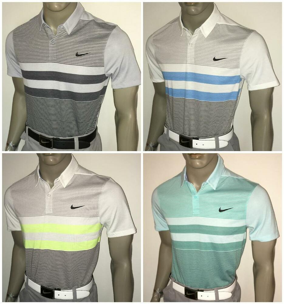 Fall 2016 nike modern fit transition dry stripe mens golf Modern fit golf shirt