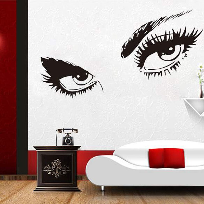 Sexy eyes wall art sticker vinyl room decal decor beauty for Decor my eyes