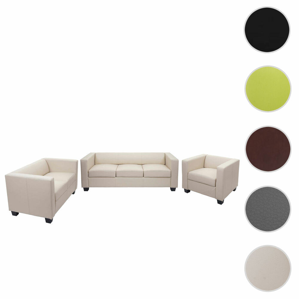 3 2 1 sofagarnitur couchgarnitur loungesofa lille ebay. Black Bedroom Furniture Sets. Home Design Ideas