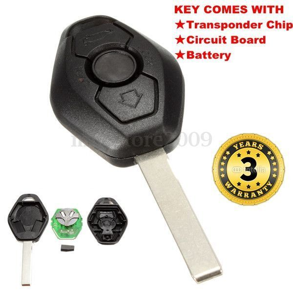 Remote Key Entry Fob Transmitter Uncut Blade For BMW X3 X5