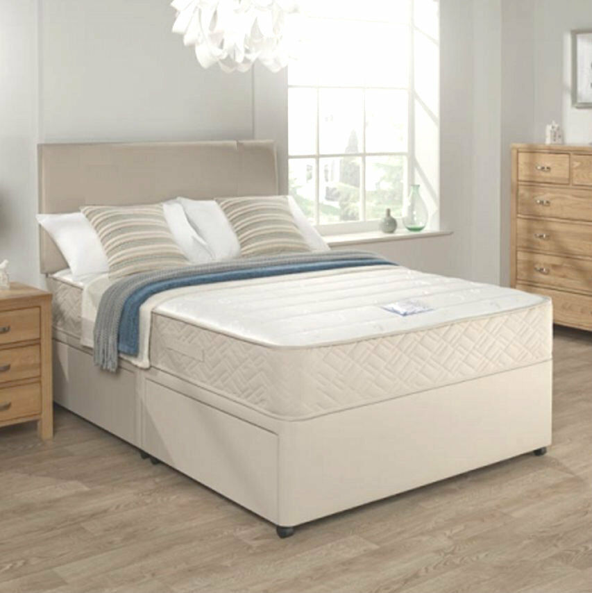 Stone Divan Bed Set Memory Mattress Headboard 3ft 4ft