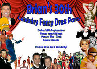 Personalised Fancy Dress Birthday Party Invitations