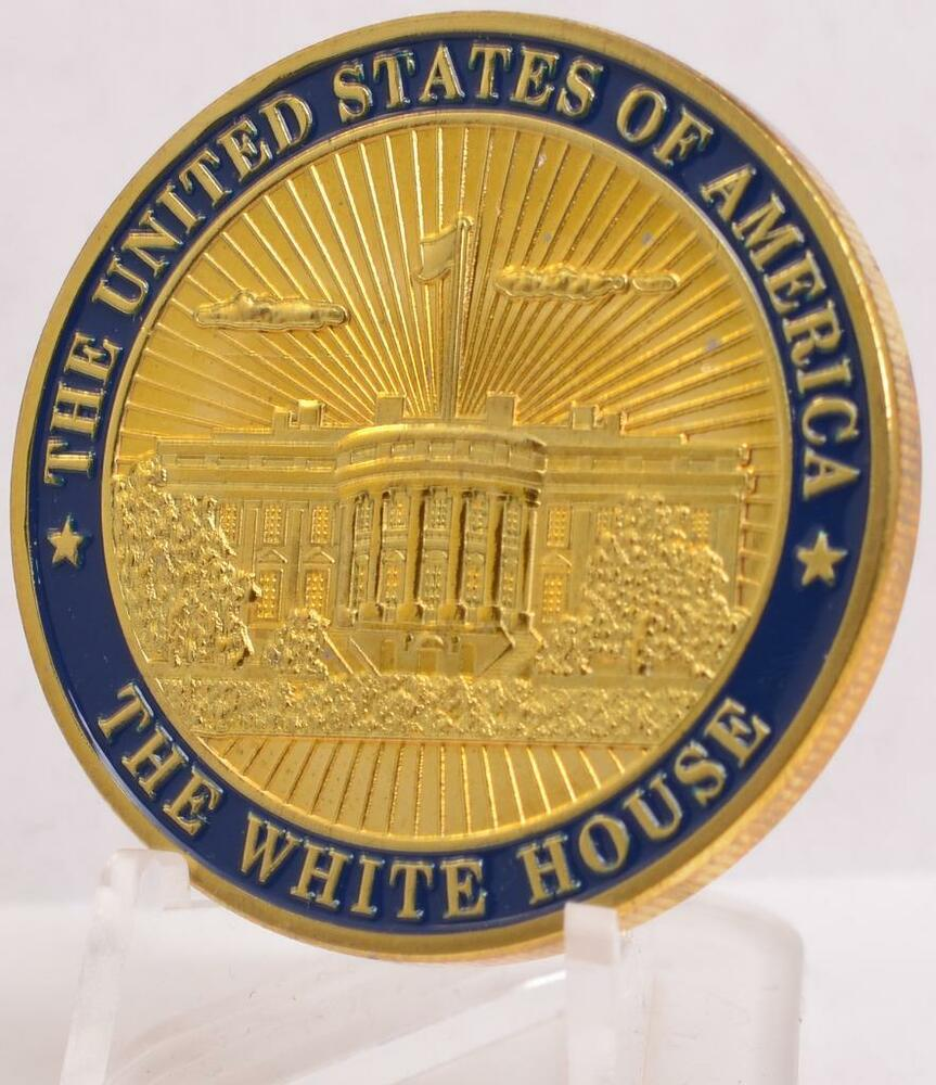 White House GOLD Challenge Coin Washington DC Great Seal ...