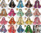 Long Cotton Voile Floral Shawl Scarf Wrap Stole For Girls/Lady 2 Sizes