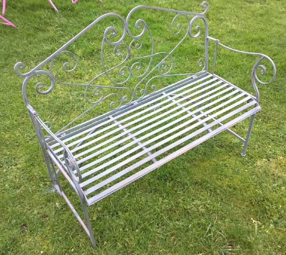 clearance green two seater wrought iron folding garden