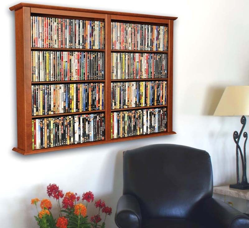 Wall mount cd dvd storage rack 684 cd 320 dvd 5 colors In wall dvd storage