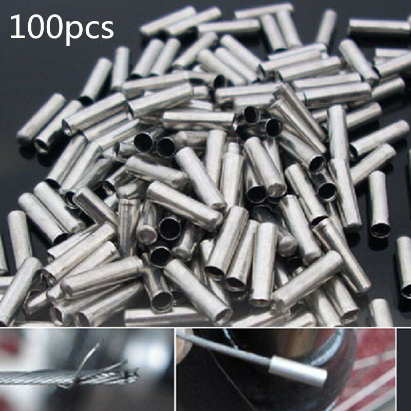 100X Bike Bicycle Shifter Brake Gear Inner Cable Tips Ends ...