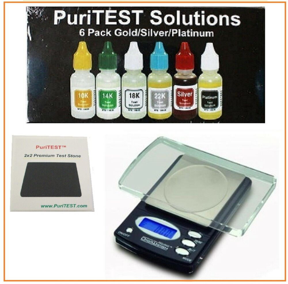 Gold And Silver Tester : Electronic gold test acid kit k silver tester