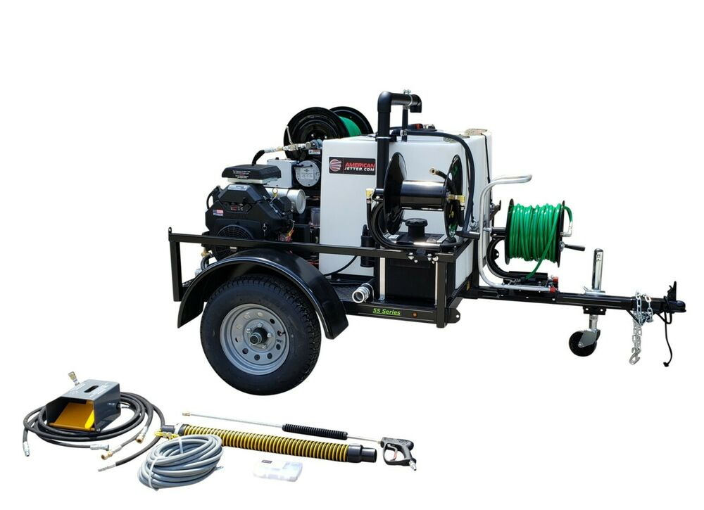 American Jetter 55 Series 835 Trailer Drain Cleaner 8 Gpm