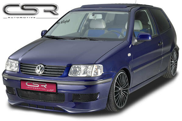 front lip spoiler front bumper splitter for vw polo 4 6n2. Black Bedroom Furniture Sets. Home Design Ideas