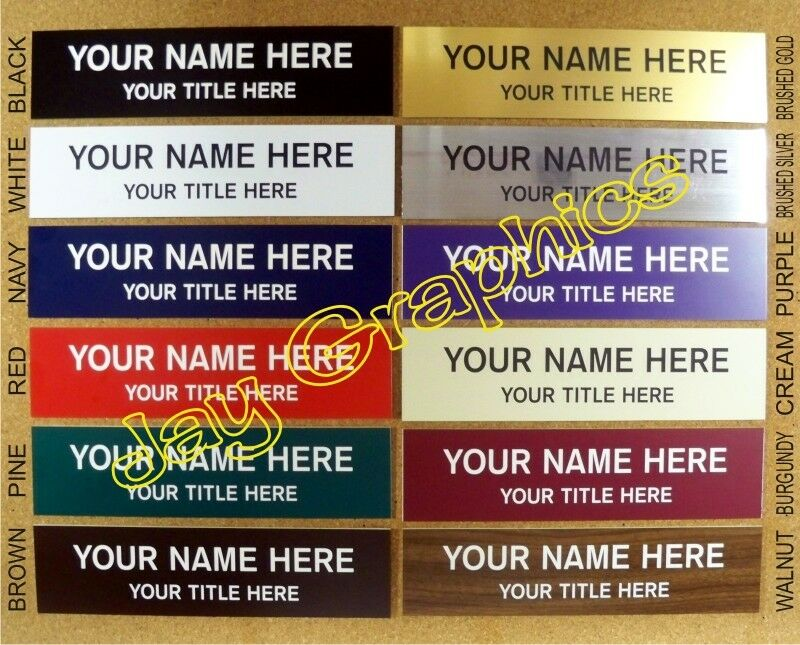 Custom Engraved 2x6 Name Plate Personalized Customized