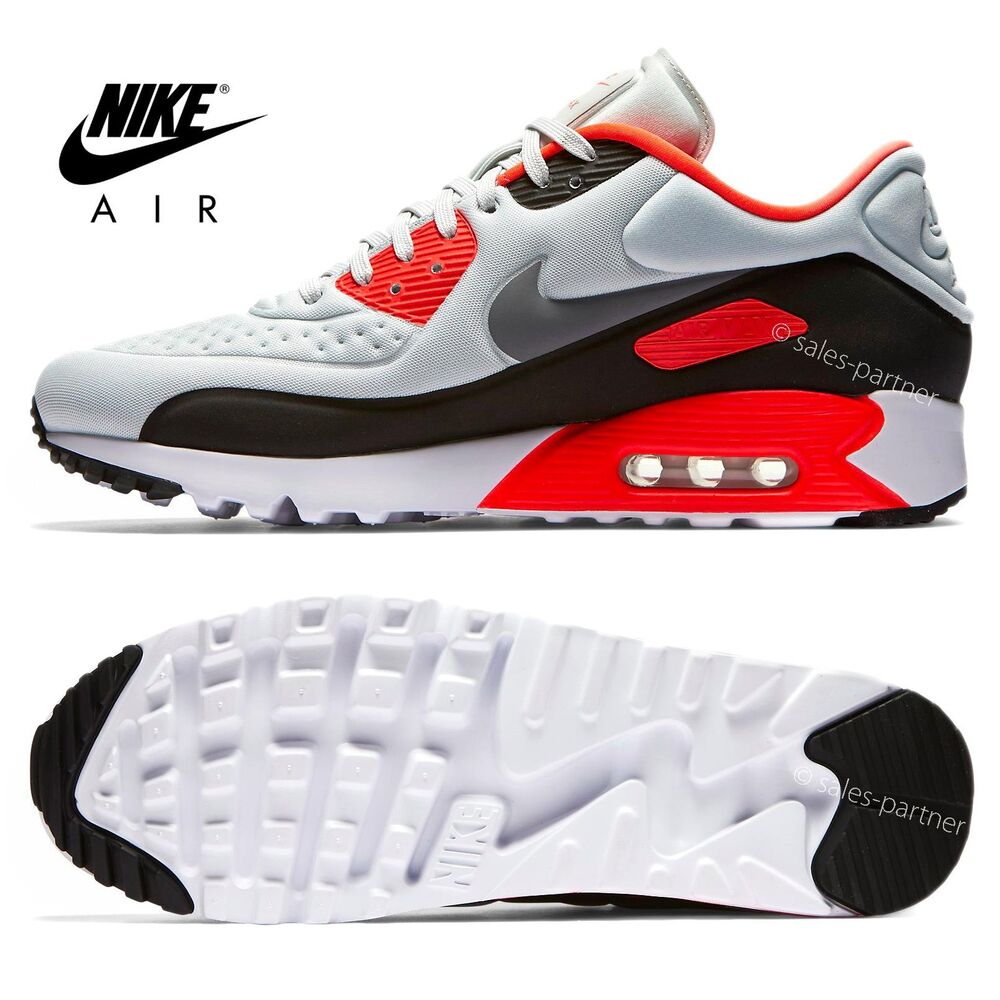 nike air max 90 ultra 2016 infrared grey size 6 14 845039. Black Bedroom Furniture Sets. Home Design Ideas