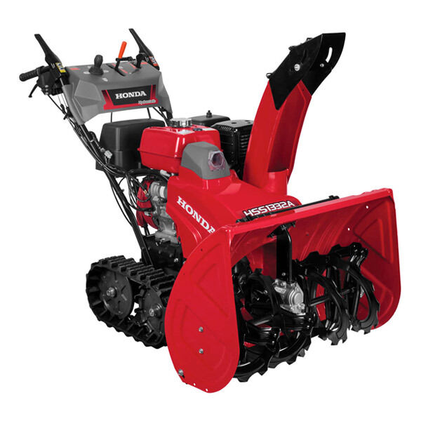 honda 32 389cc two stage track drive snow blower w 12. Black Bedroom Furniture Sets. Home Design Ideas