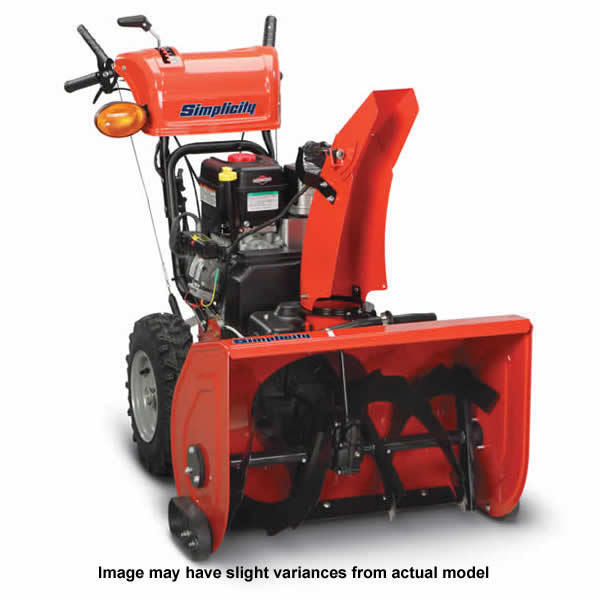 Heavy Duty Blower : Simplicity h e quot cc heavy duty two stage snow