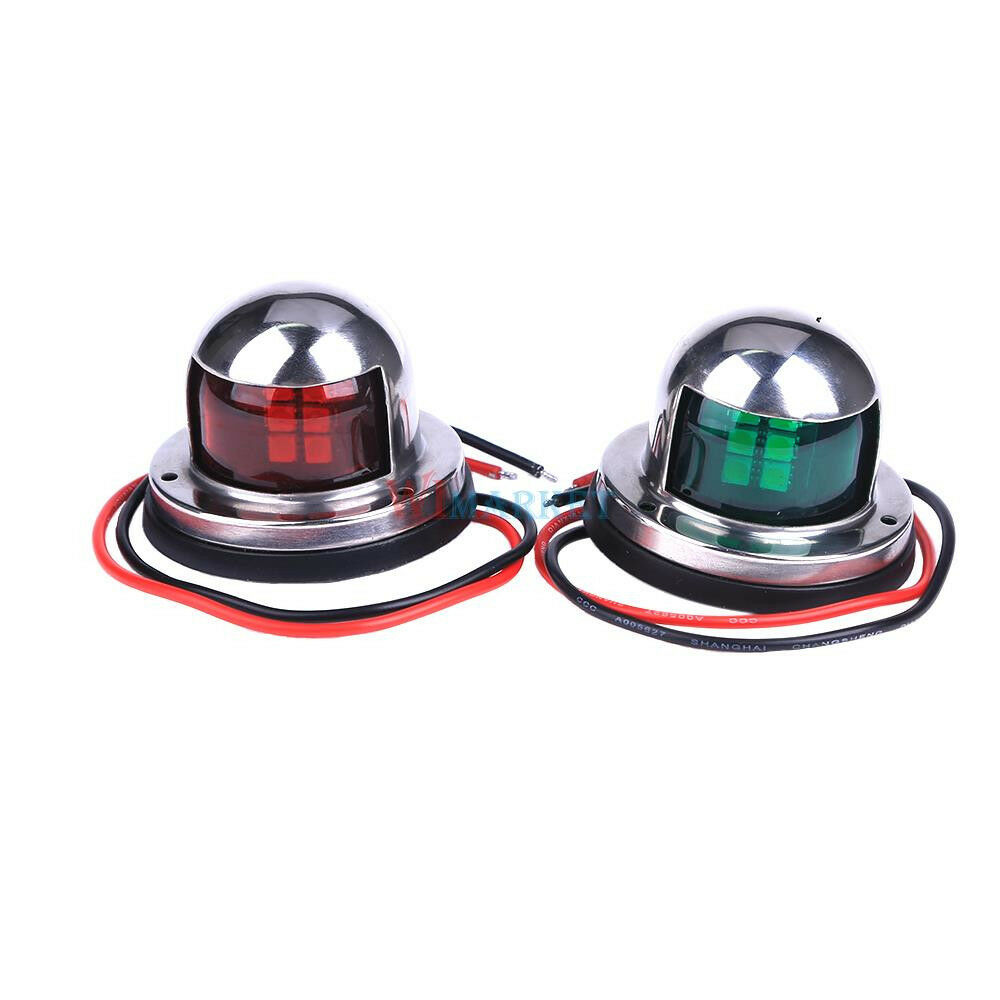Replace Boat Lights With Led: One Pair Marine Boat Yacht Pontoon 12V Stainless Steel LED