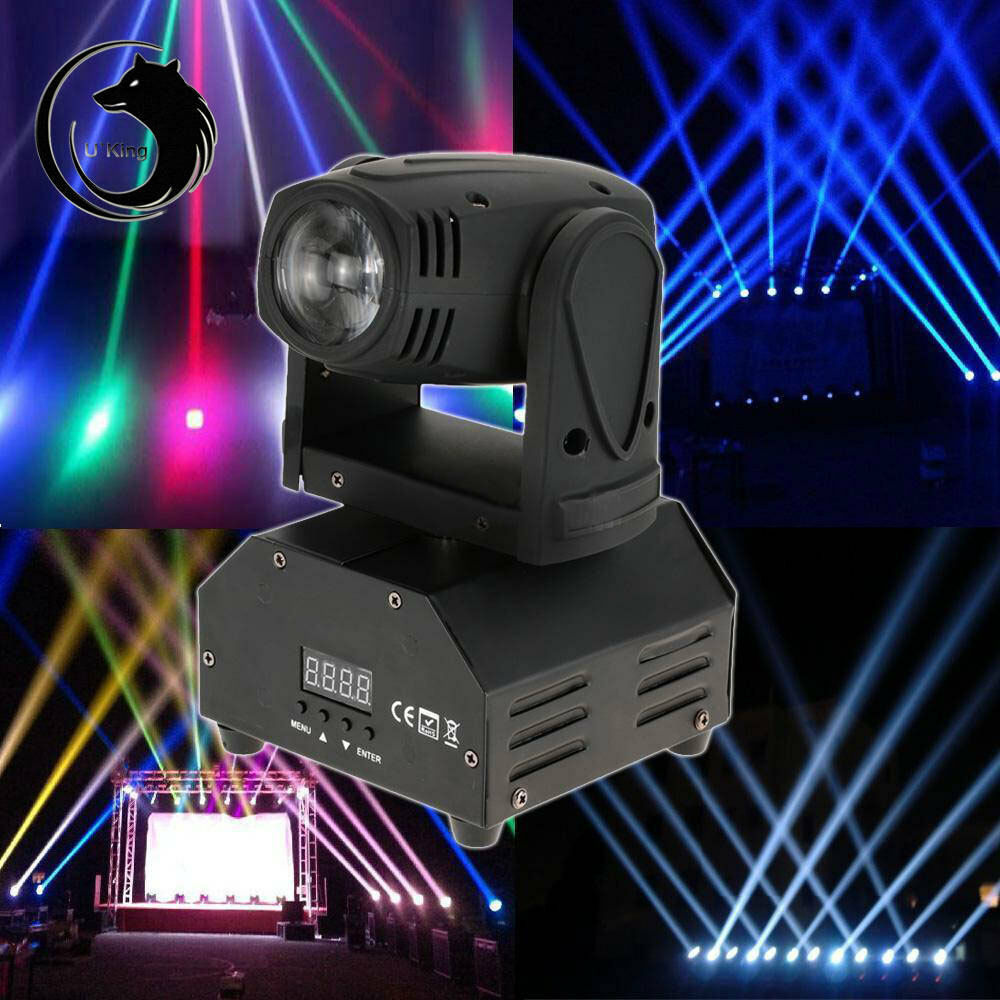10w rgbw mini moving head light dj stage disco club show lights dmx us eu uk au ebay. Black Bedroom Furniture Sets. Home Design Ideas