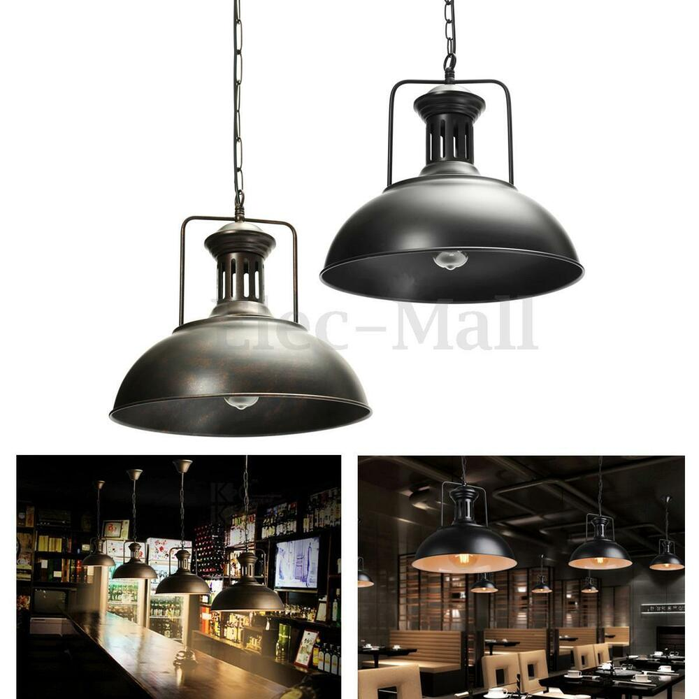 Vintage Industrial Cafe Pendant Ceiling Light Fixture Lamp