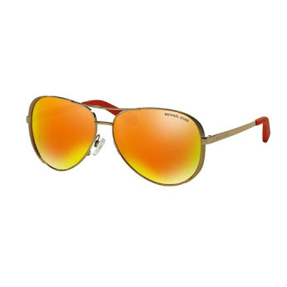0b0c3937cbd Details about NEW Michael Kors MK5004 10146Q Gold Orange Mirrored Chelsea  Aviator Sunglasses