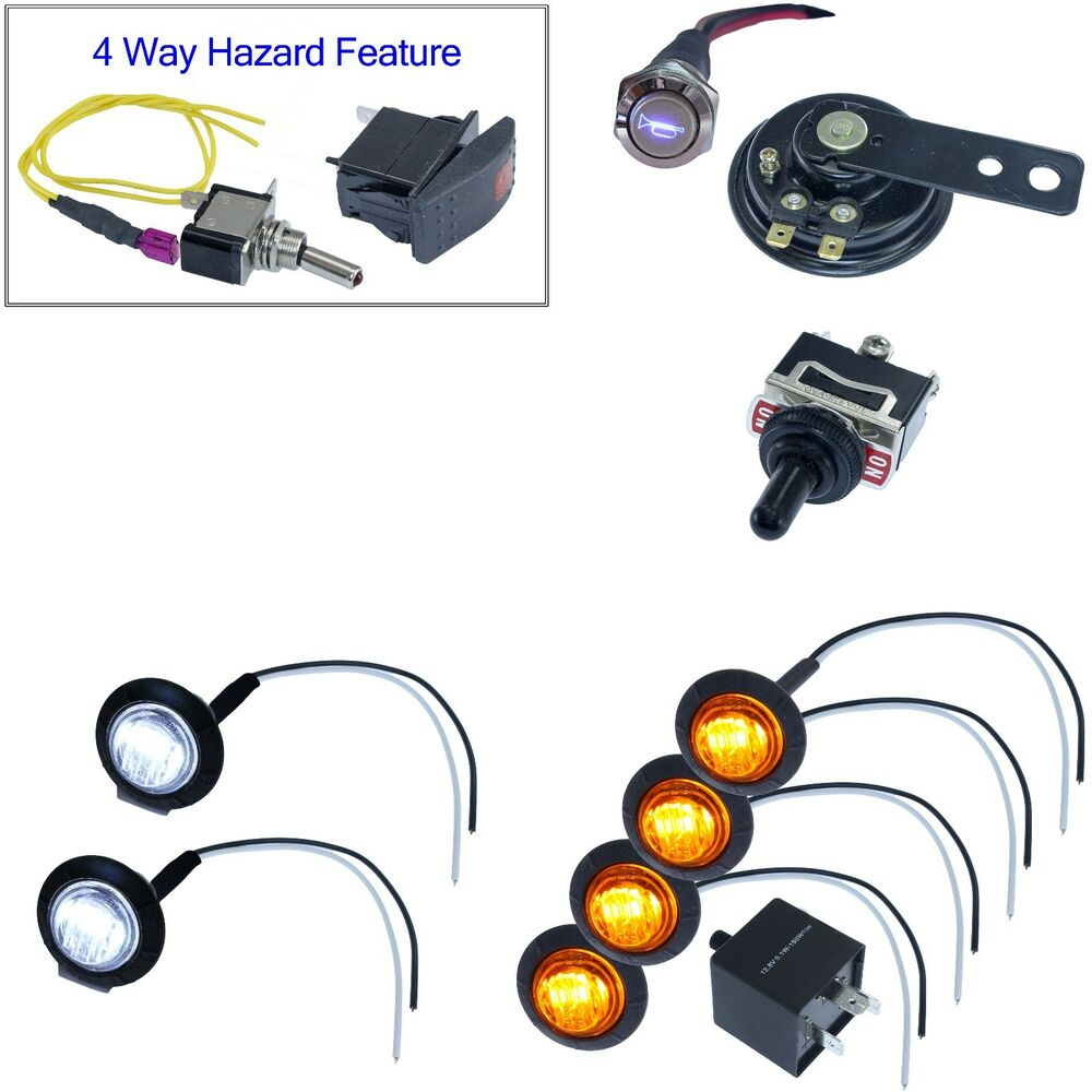 toggle switch led turn signal kit for polaris ranger rzr