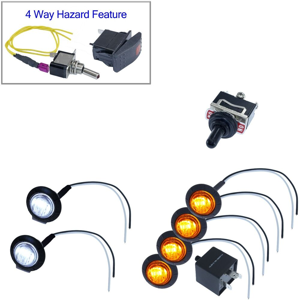 diy universal atv utv toggle switch led lights turn signal