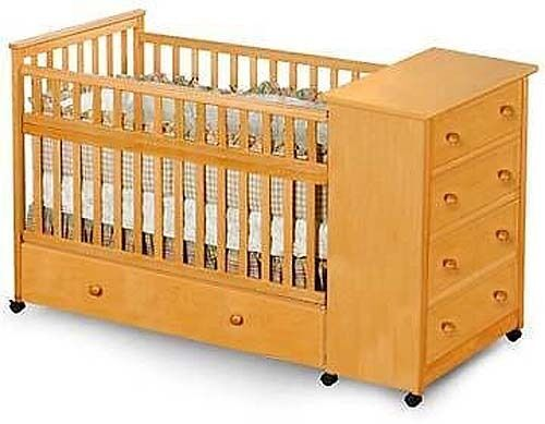 Baby convertible captain s crib woodworking plans on paper ebay - Baby crib for small spaces plan ...