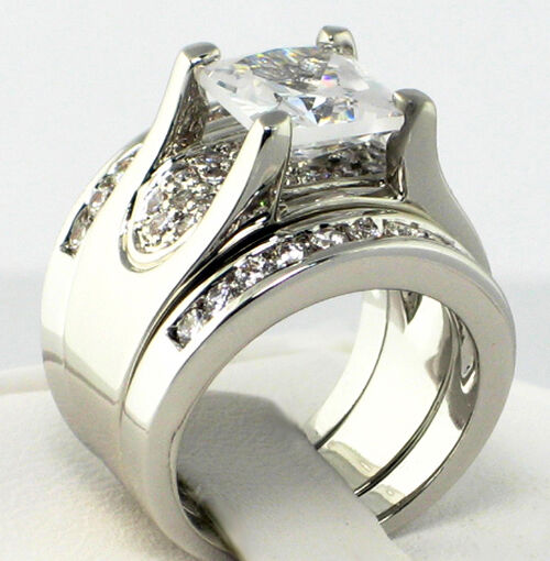cubic zirconia wedding rings bold bridge princess cut cubic zirconia bridal wedding 3 3220