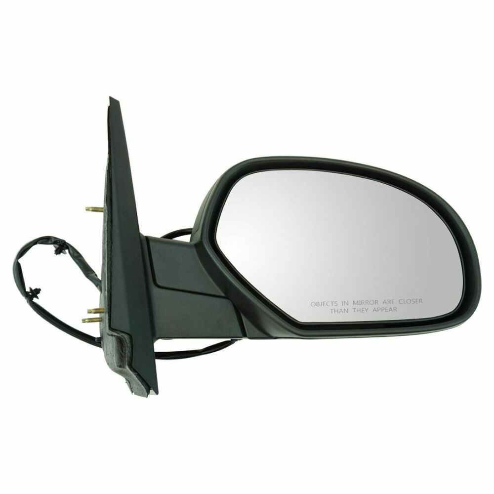 Textured black power heated side mirror passenger right rh for Power mirror motor repair