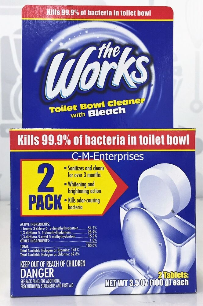 The Works Toilet Bowl Cleaner Tablets Value 2 Pack 3 5 Oz