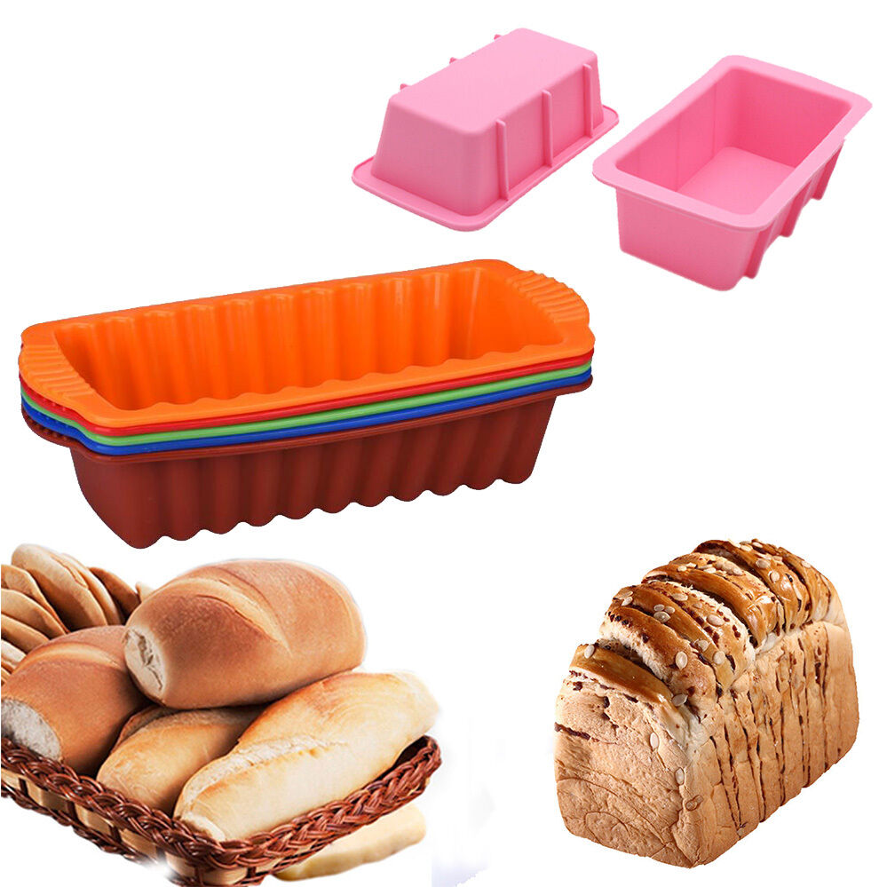 Rectangle Silicone Non Stick Bread Loaf Cake Mold Bakeware