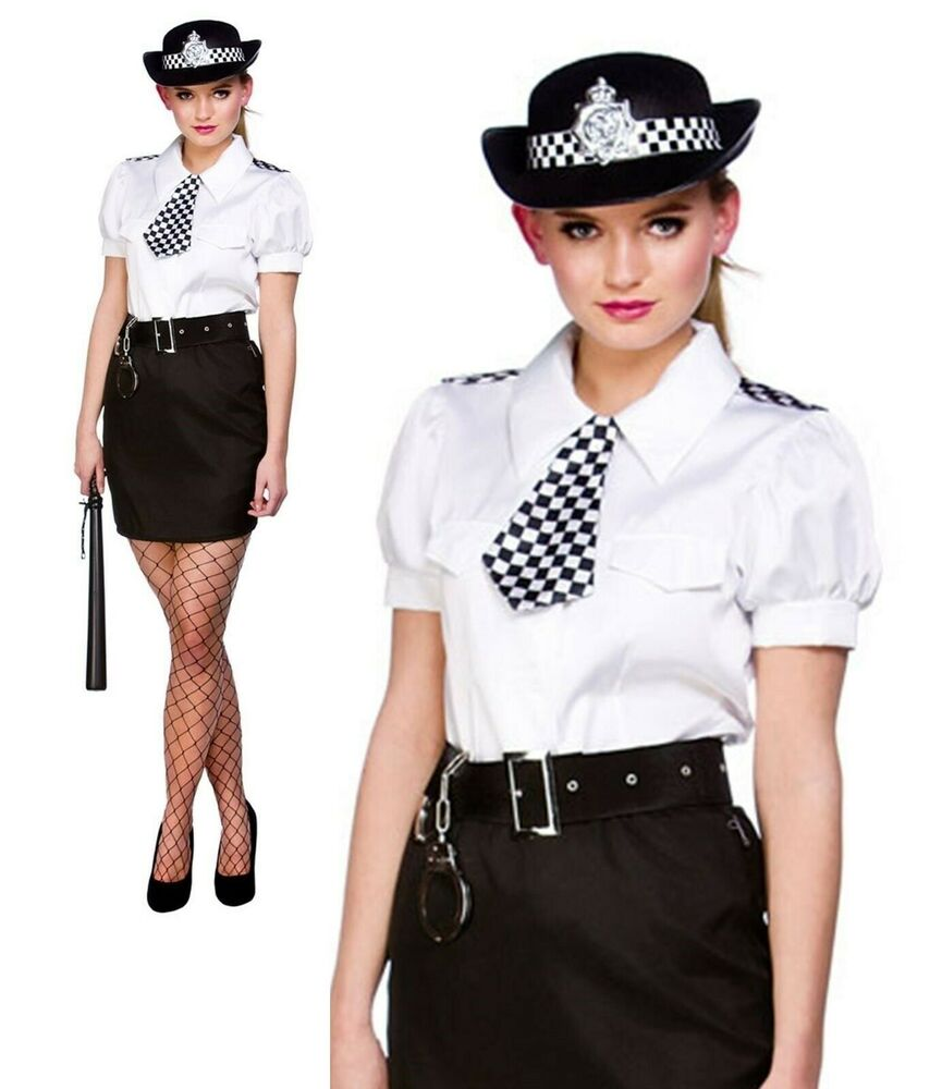 Adults Police Woman Costume Sexy Constable Cutie Ladies -4688