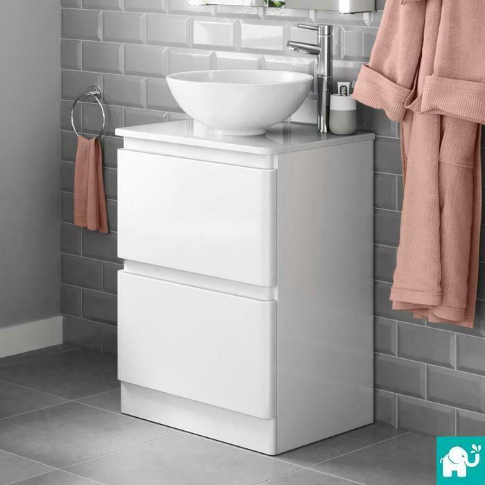white gloss bathroom unit 600mm gloss white bathroom vanity storage unit 21543