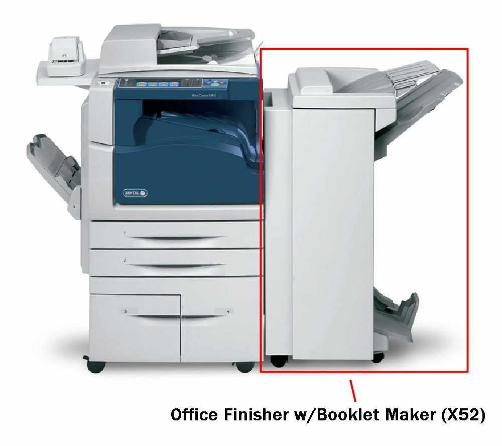 xerox x52 office finisher with booklet maker for
