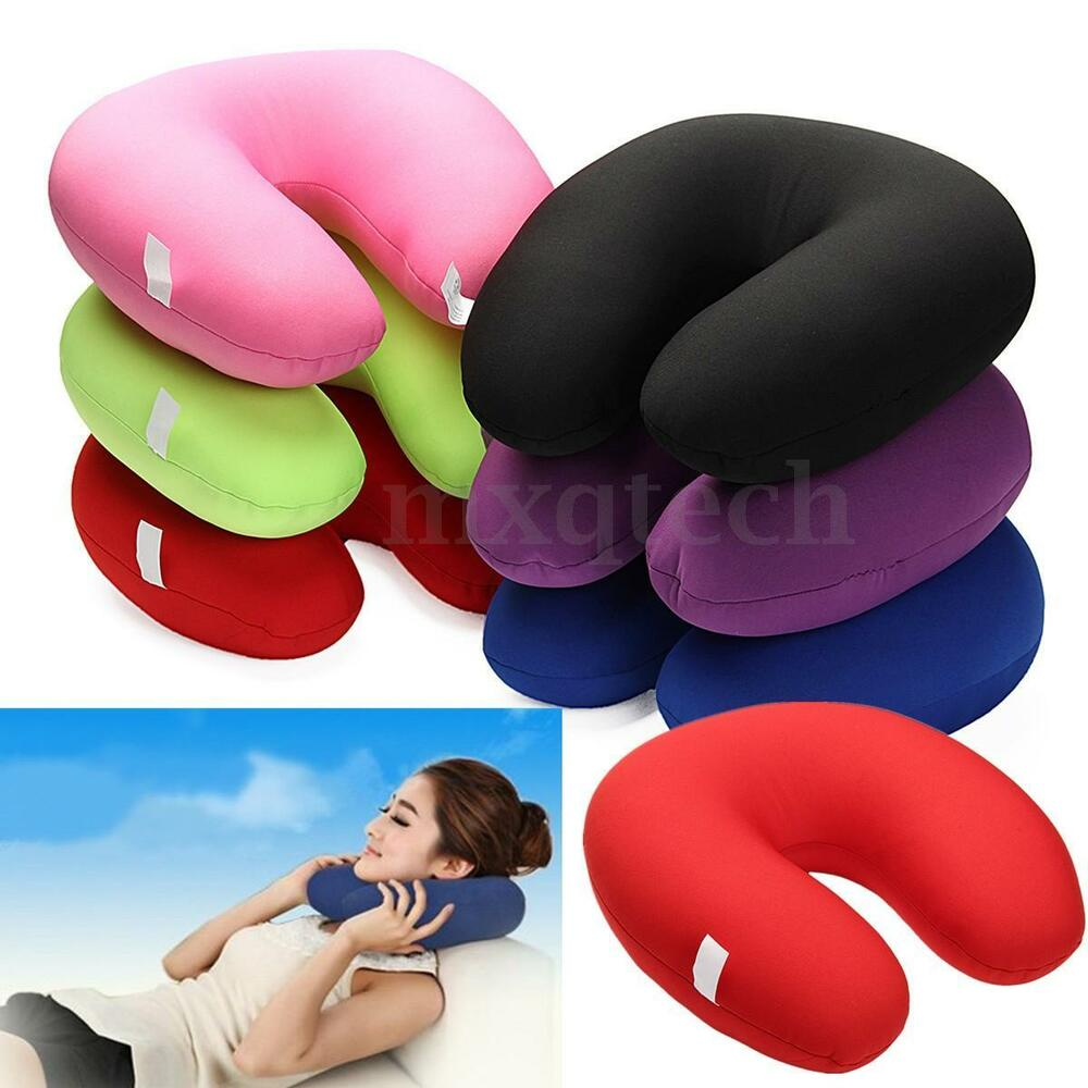 U Shaped Comfort Microbead Travel Neck Pillow Cushion